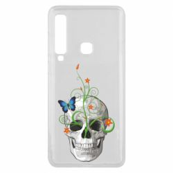 Чехол для Samsung A9 2018 Skull and green flower