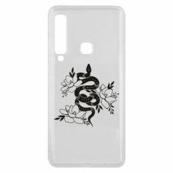 Чохол для Samsung A9 2018 Snake with flowers