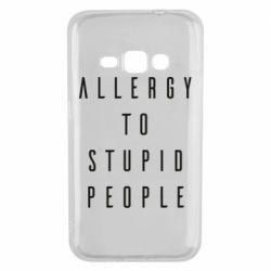 Чохол для Samsung J1 2016 Allergy To Stupid People
