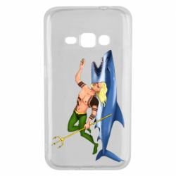 Чехол для Samsung J1 2016 Aquaman with a shark