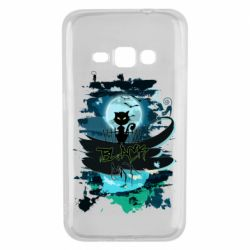 Чехол для Samsung J1 2016 Black cat art