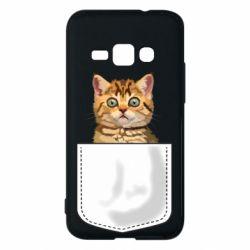 Чехол для Samsung J1 2016 Cat in your pocket
