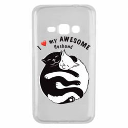 Чехол для Samsung J1 2016 Cats and love