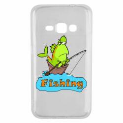 Чехол для Samsung J1 2016 Fish Fishing