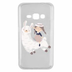 Чохол для Samsung J1 2016 Girl with a lama