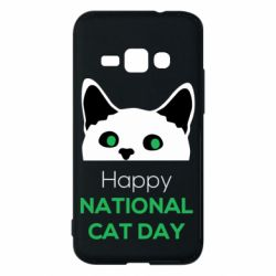 Чехол для Samsung J1 2016 Happy National Cat Day