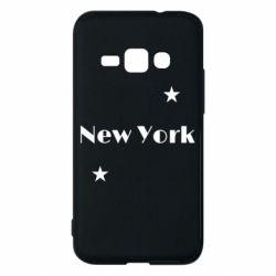 Чехол для Samsung J1 2016 New York and stars