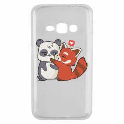 Чохол для Samsung J1 2016 Panda and fire panda