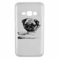Чохол для Samsung J1 2016 Pug drawing
