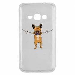 Чехол для Samsung J1 2016 Puppy On The Rope