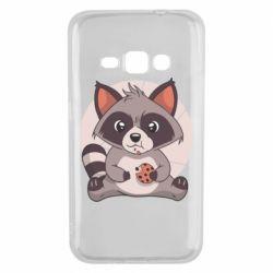 Чохол для Samsung J1 2016 Raccoon with cookies