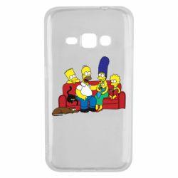 Чехол для Samsung J1 2016 Simpsons At Home