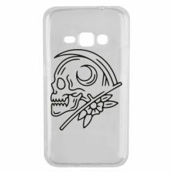 Чохол для Samsung J1 2016 Skull with scythe