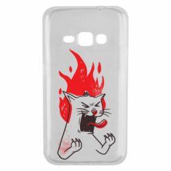 Чохол для Samsung J1 2016 The cat is mad