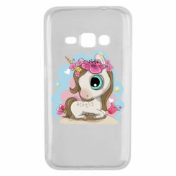 Чохол для Samsung J1 2016 Unicorn with flowers