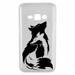 Чехол для Samsung J1 2016 Wolf And Fox
