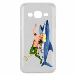Чехол для Samsung J2 2015 Aquaman with a shark