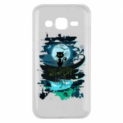 Чехол для Samsung J2 2015 Black cat art