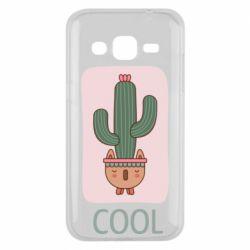 Чехол для Samsung J2 2015 Cactus art