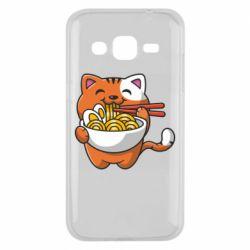 Чохол для Samsung J2 2015 Cat and Ramen
