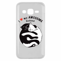 Чехол для Samsung J2 2015 Cats and love