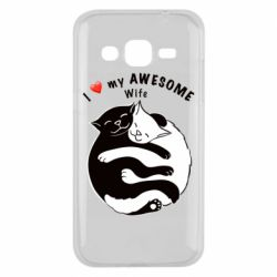 Чехол для Samsung J2 2015 Cats with a smile