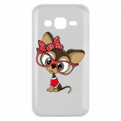 Чехол для Samsung J2 2015 Dog with big glasses