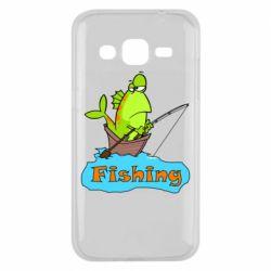 Чехол для Samsung J2 2015 Fish Fishing