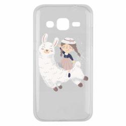 Чохол для Samsung J2 2015 Girl with a lama