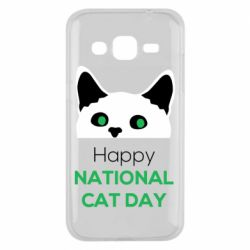 Чехол для Samsung J2 2015 Happy National Cat Day