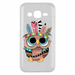 Чохол для Samsung J2 2015 Little owl with feathers