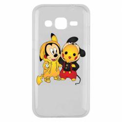 Чехол для Samsung J2 2015 Mickey and Pikachu