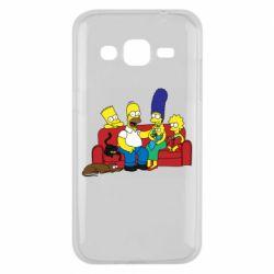Чехол для Samsung J2 2015 Simpsons At Home