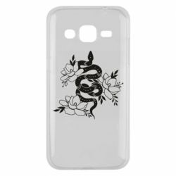 Чохол для Samsung J2 2015 Snake with flowers
