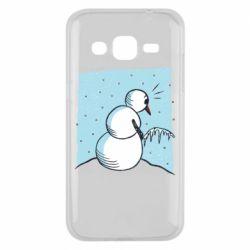 Чохол для Samsung J2 2015 Snowman. It's Cold!