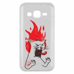 Чохол для Samsung J2 2015 The cat is mad