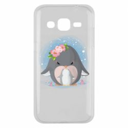 Чехол для Samsung J2 2015 Two cute penguins