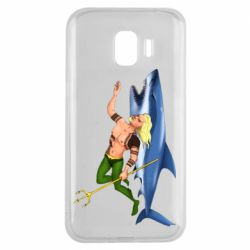 Чехол для Samsung J2 2018 Aquaman with a shark