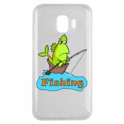Чехол для Samsung J2 2018 Fish Fishing