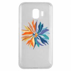 Чохол для Samsung J2 2018 Flower coat of arms of Ukraine
