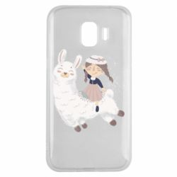 Чохол для Samsung J2 2018 Girl with a lama