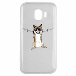Чехол для Samsung J2 2018 Grumpy Cat On The Rope