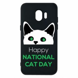 Чехол для Samsung J2 2018 Happy National Cat Day