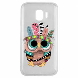 Чохол для Samsung J2 2018 Little owl with feathers