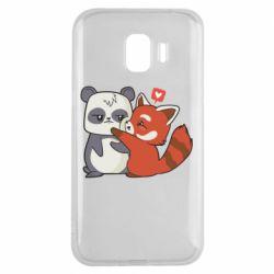 Чохол для Samsung J2 2018 Panda and fire panda