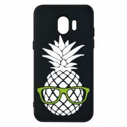 Чехол для Samsung J2 2018 Pineapple with glasses
