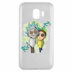 Чохол для Samsung J2 2018 Rick and Morty voodoo doll
