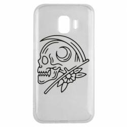 Чохол для Samsung J2 2018 Skull with scythe