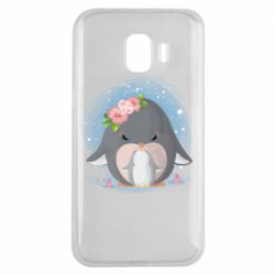Чехол для Samsung J2 2018 Two cute penguins