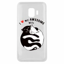 Чехол для Samsung J2 Core Cats with a smile